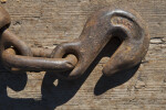 Metal Hook on Wooden Bed of Construction Equipment