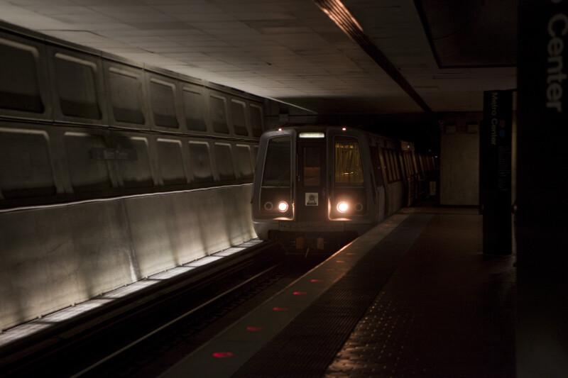 Metro Train Arriving