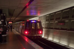 Metro Train Leaving