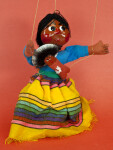 Mexico Female Marionette on Strings with Baby (Full View)