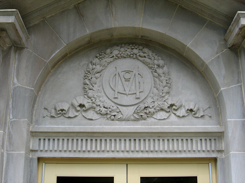 MG Monogram on McGuffey Hall
