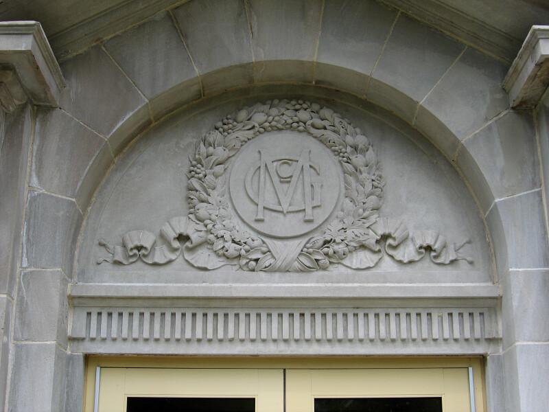 MG Monogram on McGuffey Hall