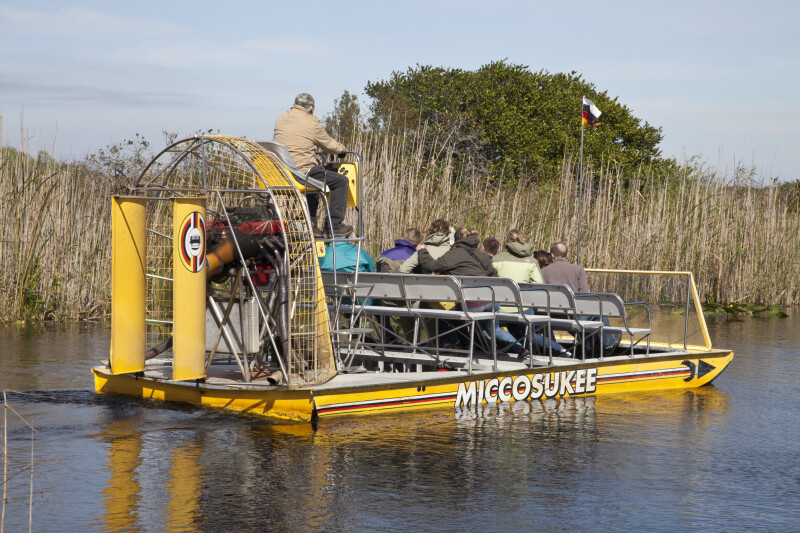 Miccosukee Airboat Full of Passengers