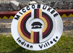 Miccosukee Indian Village Sign at the Big Cypress National Preserve