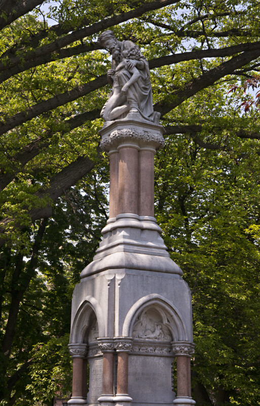 Middle and Top Sections of the Ether Monument at the Boston Public Garden
