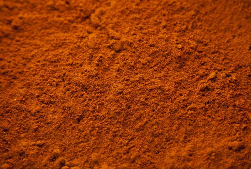 Mild Paprica Powder at the Spice Bazaar in Istanbul, Turkey