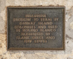 Millstone Plaque in the Alamo Mission
