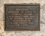 Millstone Plaque in the Alamo Mission