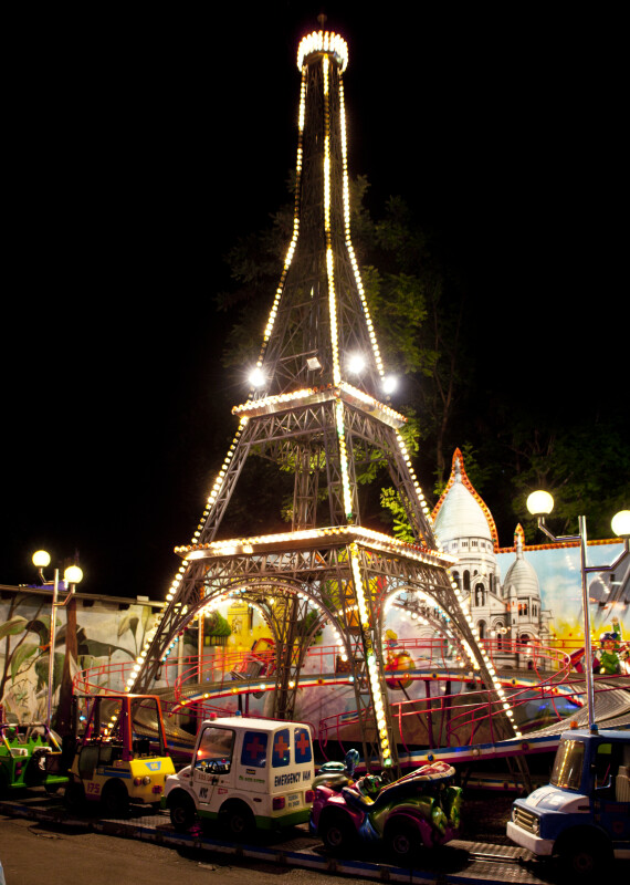 Miniature Eiffel Tower Ride