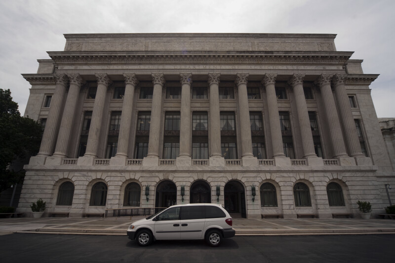 Minivan at United States Department of Agriculture building
