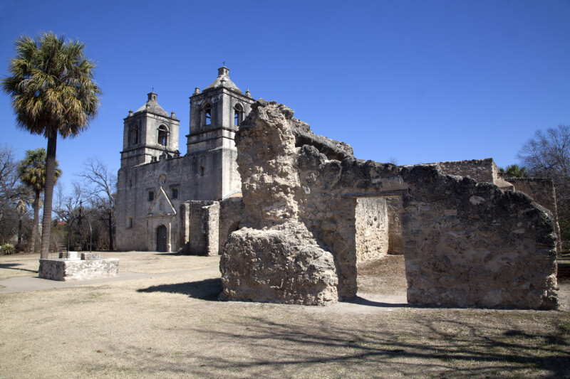 Mission Concepción as Seen from the Front