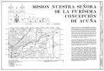 Mission Concepción Cover Sheet with Elevation and Location Drawings