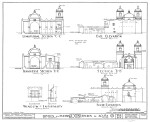 Mission Concepción Elevation and Section Drawings