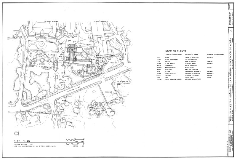 Mission Concepción Site Plan