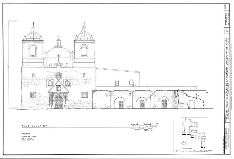 Mission Concepción West Elevation
