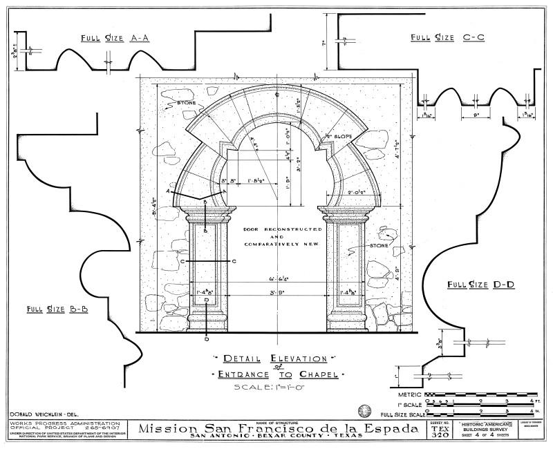 Mission Espada Detail of Chapel Entrance
