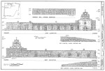 Mission Espada East and West Elevation Drawings