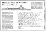 Mission Espada East Elevation and Location Map