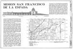 Mission Espada East Elevation and Location Map