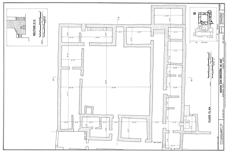 Mission of San Gregoiro de Abó Floor Plan (Eastern Half)