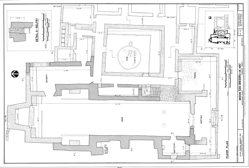 Mission of San Gregoiro de Abó Floor Plan (Western Half)