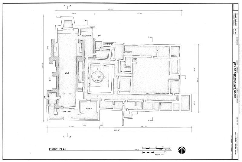 Mission of San Gregoiro de Abó Floor Plan