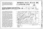 Mission San Juan de Capistrano Cover Sheet for 1983 Drawings