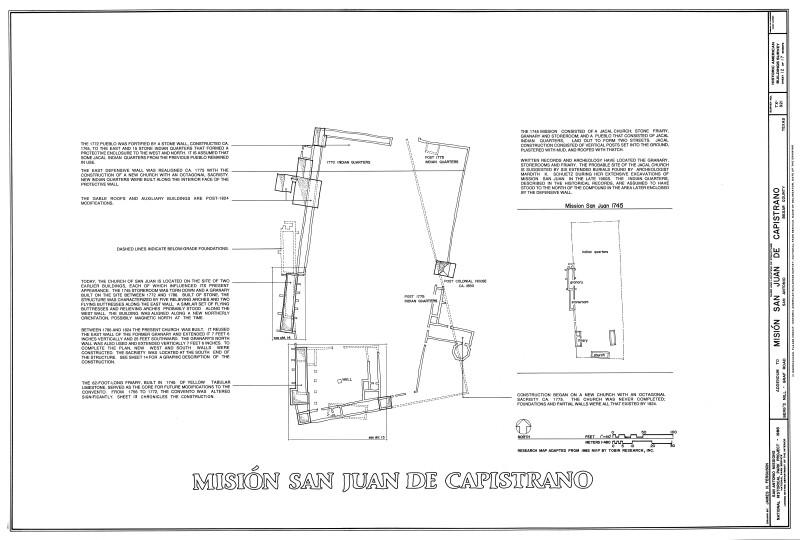 Mission San Juan de Capistrano Site Plan