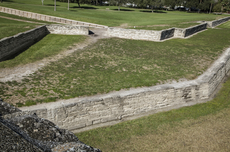 Moat, Covered Way, and Glacis of Castillo de San Marcos