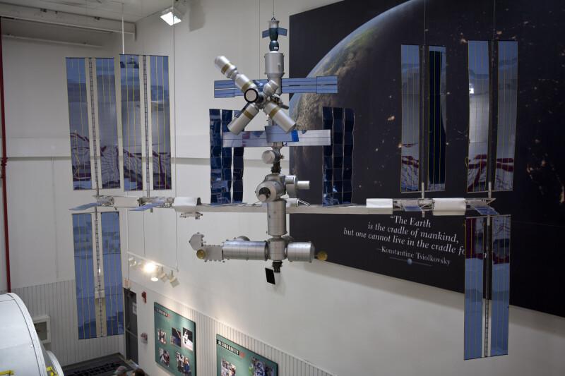 Model at International Space Station Center