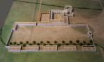 Model of the Alamo as Seen from Above