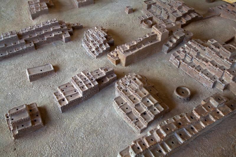 Model of the Pueblo Village at the Quarai Ruins