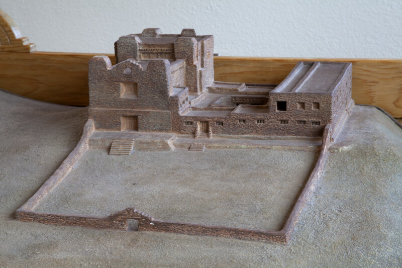 Model of the Quarai Church and Convento With Corrals