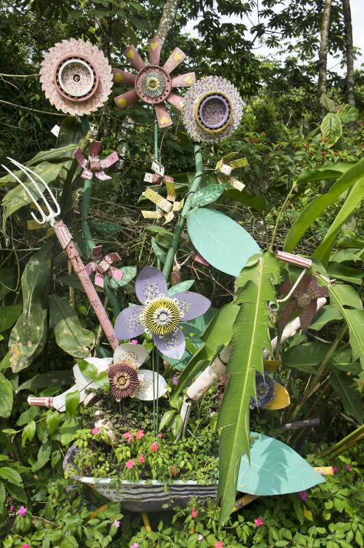 Modern Flower Sculpture