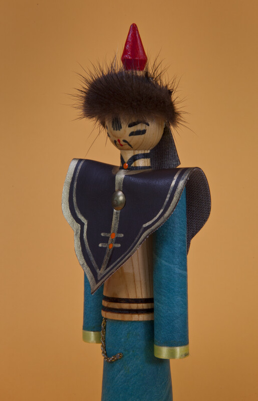 Mongolian Doll Made from Wood Covered with Cloth (Three Quarter Length)