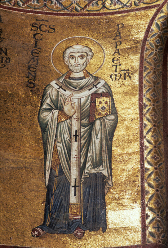 Monreale cathedral, apse mosaics, St. Clement, pope and martyr