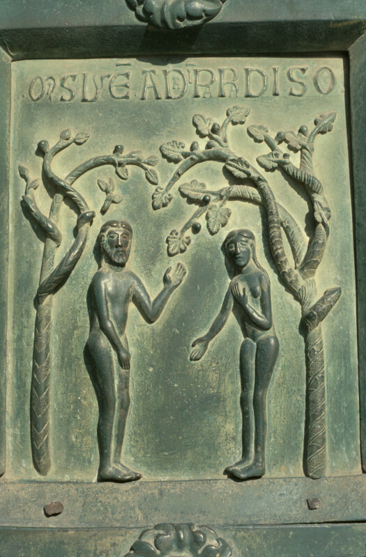 Monreale cathedral bronze doors of Bonannus of Pisa Adam and Eve in Paradise & Monreale cathedral bronze doors of Bonannus of Pisa Adam and Eve ... Pezcame.Com