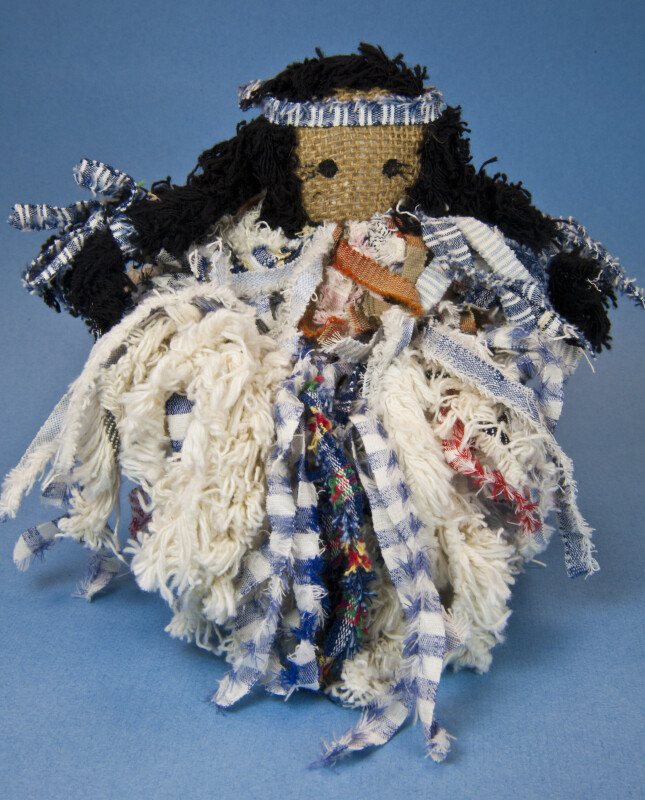 Montana American Indian Doll Handcrafted from Rags and Burlap (Full View)
