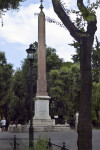 Monument with an Inscription at the Villa Borghese Gardens