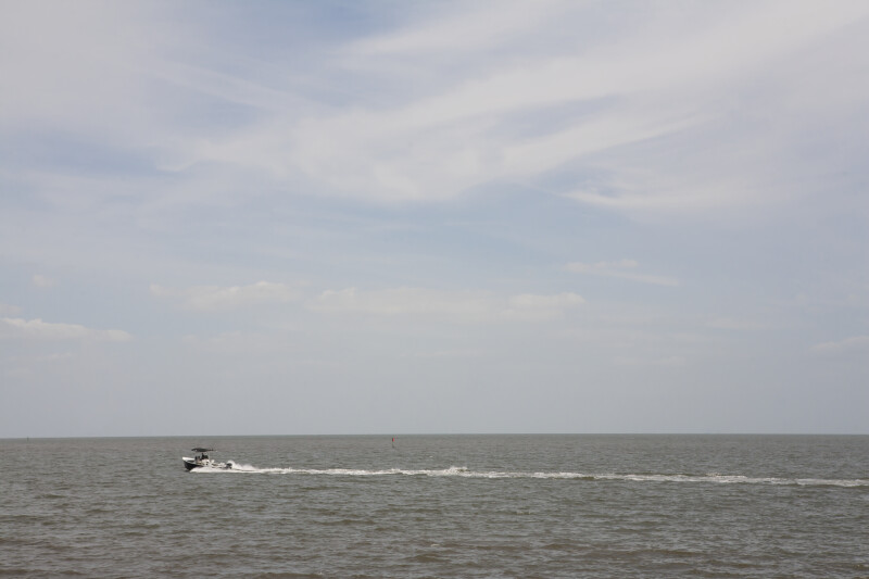 Motorboat at Cedar Key