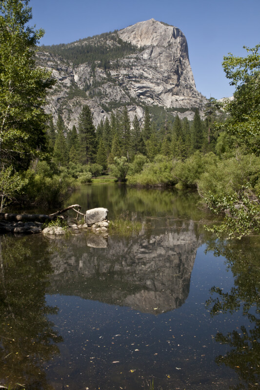 Mount Watkins Reflected on the Surface of Mirror Lake