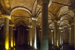 Multiple Columns and the Curved Roof at the Basilica Cistern