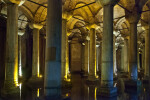 Multiple Columns at the Basilica Cistern