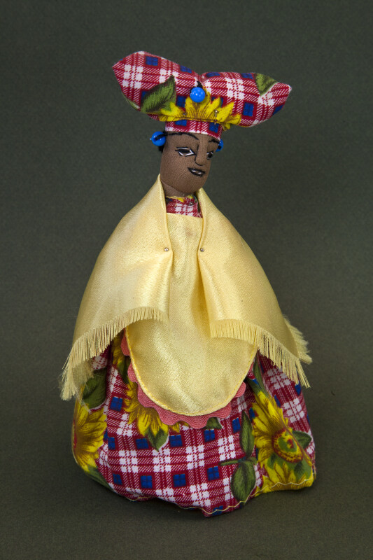 Namibia Herero Lady Doll with Traditional Long Dress and Shawl  (Full View)