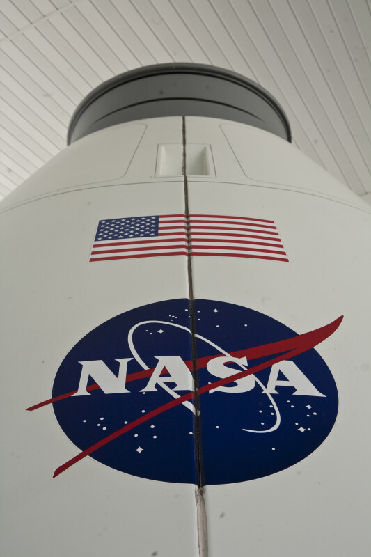 NASA Logo and American Flag