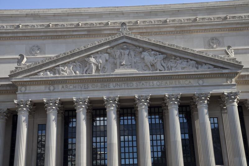 National Archives Pediment