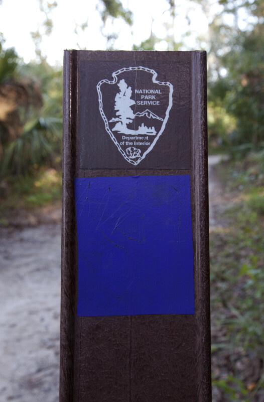 National Park Service Symbol on a Post