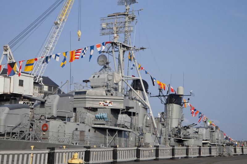 Navy Ship at The Charlestown Navy Yard