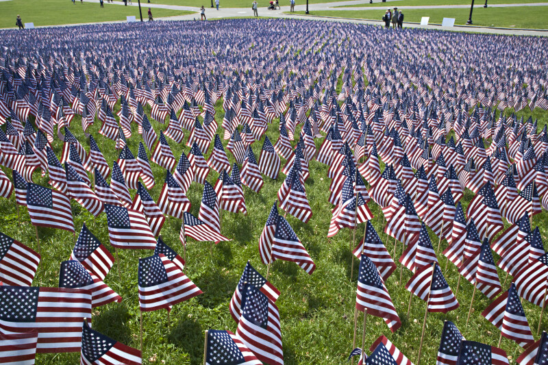 Nearly 20,000 American Flags at Boston Common