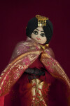 Nepal Newari Bride Figurine Dressed in Red and Gold Brocade (Three Quarter Length)